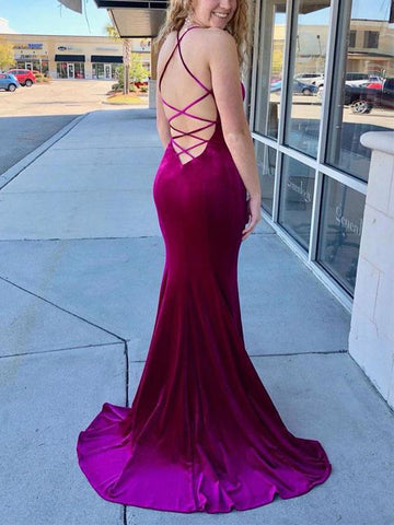 Mermaid Prom Dresses Spaghetti Straps Elegant Tight Long Prom Dress/Evening Dress AMY687