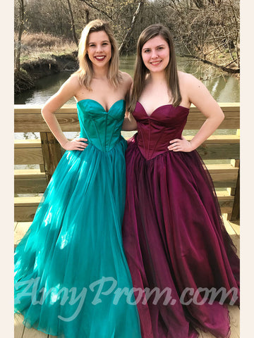 Ball Gowns Prom Dresses Sweetheart Simple Cheap Long Prom Dress/Evening Dress AMY726