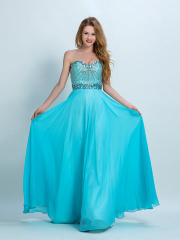 Beautiful Prom Dresses, A-line Sweetheart Floor-length Chiffon Prom Dress/Evening Dress AMY008