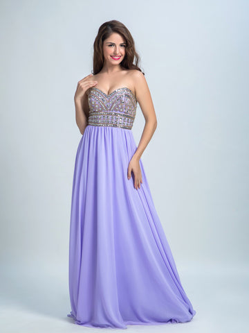 Cheap Prom Dresses, A-line Sweetheart Floor-length Chiffon Prom Dress/Evening Dress AMY014