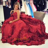 Chic A-line Sweetheart Long Prom Dresses Asymmetrical Fuchsia Prom Dress Evening Gowns AMY3111