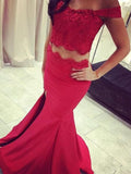 Trumpet/Mermaid Off-the-shoulder Floor-length Chiffon Prom Dress/Evening Dress #MK0540