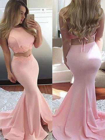 Trumpet/Mermaid Halter Floor-length Chiffon Prom Dress/Evening Dress #MK0662