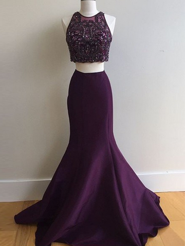 prom dresses long, A-line Spaghetti Straps Floor-length Tulle Prom Dress/Evening Dress #MK089