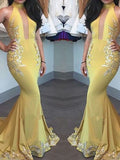 Trumpet/Mermaid High Neck Floor-length Chiffon Prom Dress/Evening Dress #MK0992