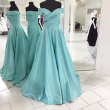 Elegant Prom Dress, Off the shoulder Long A-line Ruffle Prom Dress Evening Dress MK525