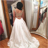 2017 Long Prom Dress, A-line Beading Prom Dress Evening Dress MK526