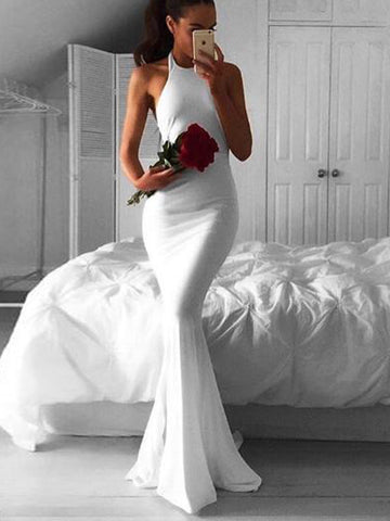 Prom Dress 2017, White Prom Dress,Mermaid Prom Dress, Prom Dress Evening Dress  MK527