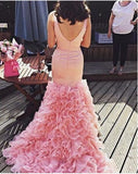 Mermaid Prom Dress,Gorgeous Ruffle Baby Pink Prom Dress/Evening Dress MK548