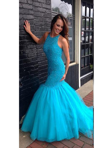 Mermaid Prom Dress, Gorgeous Long Strapless Prom Dress/Evening Dress MK576