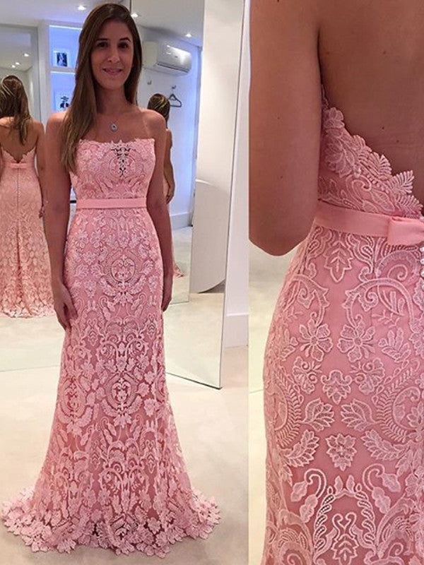 Lace prom dress,2017 Long Prom Dress Mermaid Backless Prom Dress/Evening Dress MK589