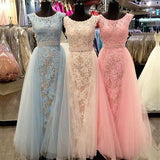 Gorgeous Appliques Prom Dress, Long Chiffon Tulle Prom Dress/Evening Dress MK590