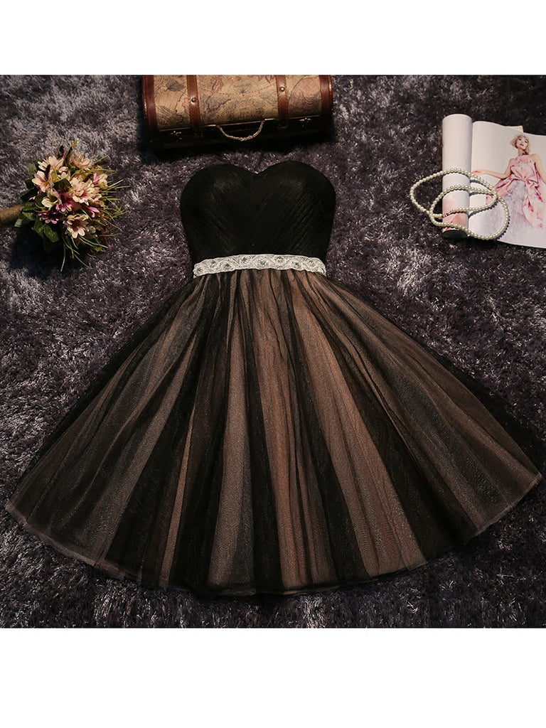 A-line Homecoming Dress Scoop Short/Mini Prom Drsess Juniors Homecoming Dresses SKY008