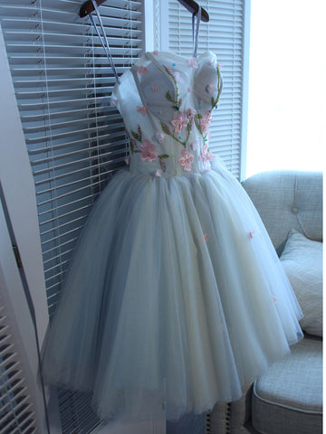 Charming Homecoming Dresses,A-line Sweetheart Tulle Short/Mini Prom Dress SKY008