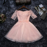 A-line Homecoming Dress Off-the-shoulder Short/Mini Prom Dresses Juniors Homecoming Dresses SKY013