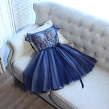 Off-the-shoulder Short/Mini Prom Drsess Juniors Homecoming Dresses SKY017