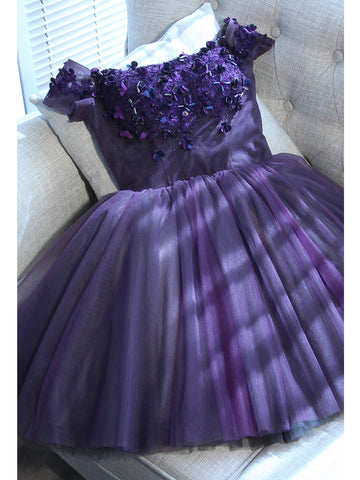 Grape Homecoming Dress Short/Mini Prom Drsess Juniors Homecoming Dresses SKY032