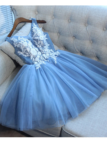 A-line Homecoming Dress V-Neck Short/Mini Prom Drsess Juniors Homecoming Dresses SKY041