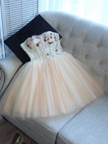 A-line Homecoming Dress 2017 Sweetheart Short/Mini Prom Drsess Juniors Homecoming Dresses SKY047