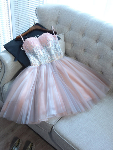 A-line Homecoming Dress 2017 Sweetheart Short/Mini Prom Drsess Juniors Homecoming Dresses SKY048