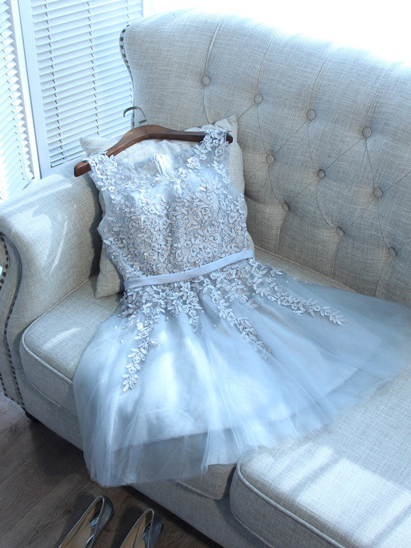 Charming A-line Homecoming Dress Scoop Short/Mini Prom Drsess Juniors Homecoming Dresses SKY049