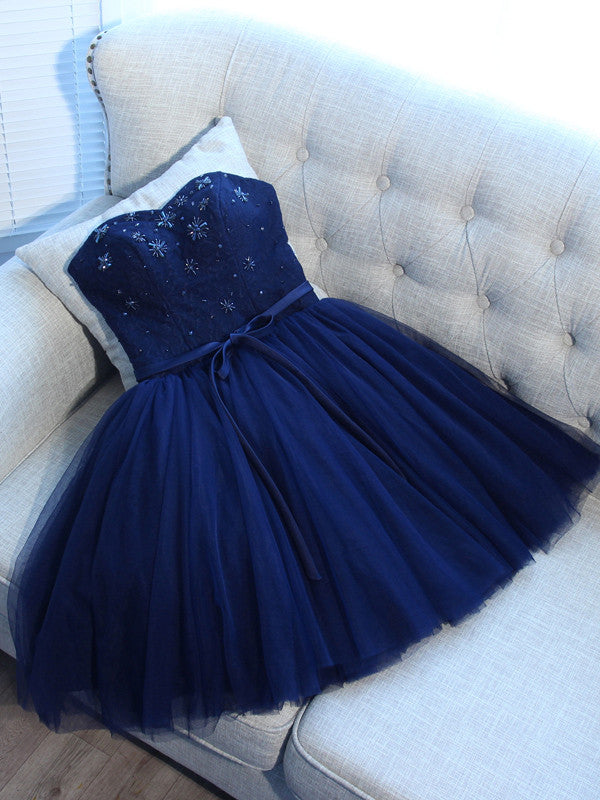 Charming A-line Homecoming Dress Sweetheart Short/Mini Prom Drsess Juniors Homecoming Dresses SKY051