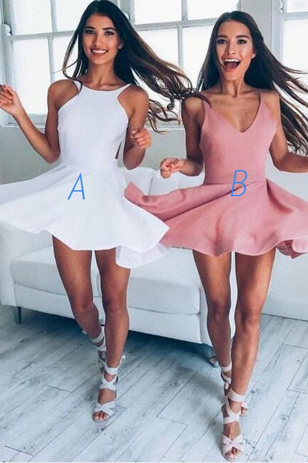 A-line Short Prom Dress 2017 Juniors Homecoming Dress Short/Mini Prom SKY059