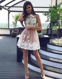 2017 A-line Prom Dress Juniors Short/Mini Homecoming Dress SKY074