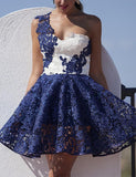 Royal Blue A-line Short Prom Dress 2017 Juniors Homecoming Dress SKY081