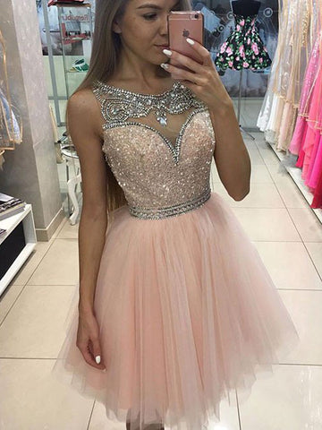 2017 A-line Scoop Homecoming Dress Prom Drsess Juniors Homecoming Dresses SKY099
