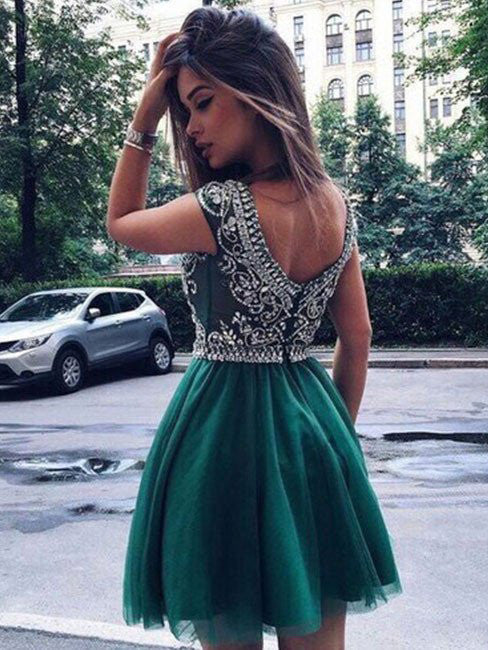 A-line Homecoming Dress 2017 Short Prom Drsess Juniors Homecoming Dresses SKY100