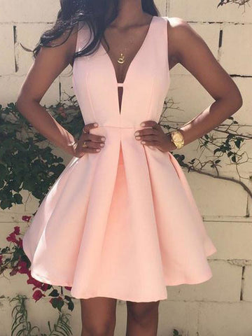 A-line Homecoming Dress 2017 Short Prom Drsess Juniors Homecoming Dresses SKY104