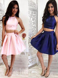 Two Pieces Homecoming Dress 2017 A-line Prom Drsess Juniors Homecoming Dresses SKY114