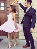 Pink Homecoming Dress 2017 A-line Prom Drsess Juniors Homecoming Dresses SKY115