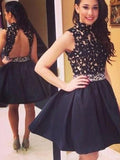 Black Homecoming Dress Short Prom Drsess Juniors Homecoming Dresses SKY123