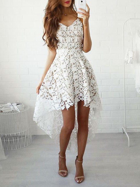 Asymmetrical Homecoming Dress Short Prom Drsess Juniors Homecoming Dresses SKY124