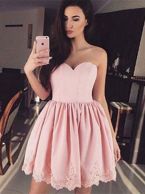 A-line Homecoming Dress Short Prom Drsess Juniors Homecoming Dresses SKY127