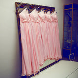 ,A-line One shoulder Floor-length Chiffon Prom Dress Bridesmaid Dress #SKY132