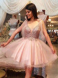 A-line Homecoming Dress Short/Mini Prom Drsess Juniors Homecoming Dresses SKY134