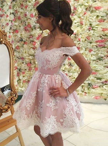 A-line Homecoming Dress Short/Mini Prom Drsess Juniors Homecoming Dresses SKY137