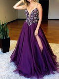 A-line Prom Dress Spaghetti Straps Rhinestone Prom Dresses/Evening Dress SKY143