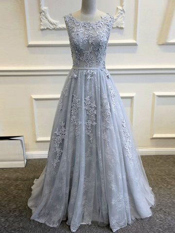 A-line Prom Dress Off-the-shoulder Lace Prom Dresses/Evening Dress SKY146