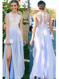 A-line Prom Dress Scoop Floor Length Prom Dresses/Evening Dress SKY151
