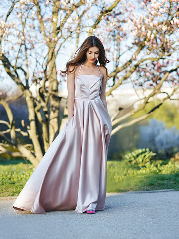 A-line Prom Dress Spaghetti Straps Prom Dresses/Evening Dress SKY159