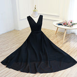 A-line Prom Dress V-neck Tulle Long Prom Dresses/Evening Dress SKY168