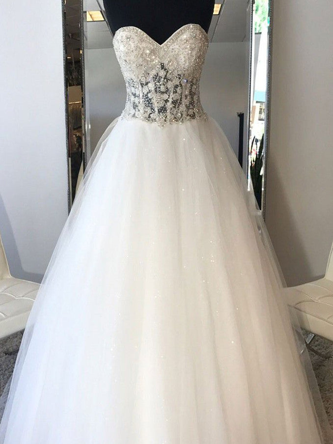 A-line Prom Dress Sweetheart Tulle Long Prom Dresses/Evening Dress SKY170