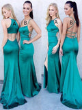 Trumpet/Mermaid Floor Length Elastic Woven Satin Prom Drsess/Evening Dress SKY225