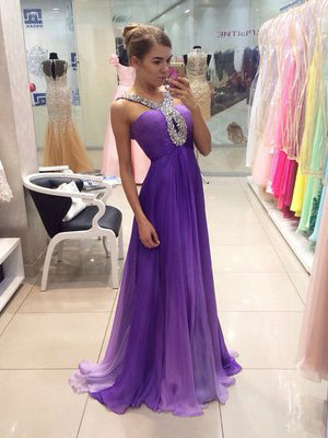 A-line Straps Prom Dress Tulle Prom Dresses/Evening Dress SKY267