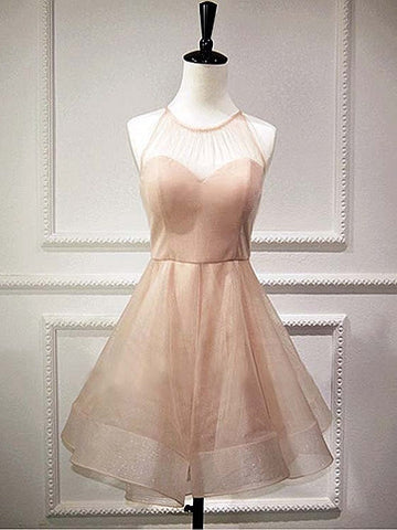 Cute Homecoming Dress A-line Organza Juniors Homecoming Dresses SKY285