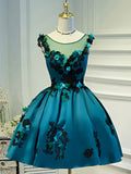 A-line Homecoming Dress Chiffon Scoop Juniors Homecoming Dresses SKY320